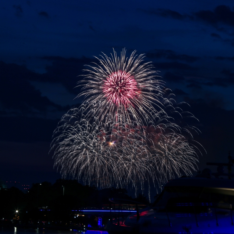 Fourth of July fireworks in our nation's capital, as viewed from La Vie Dansante!